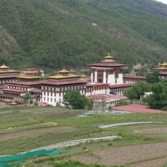 The Tashiccho Dzong in Thimphu