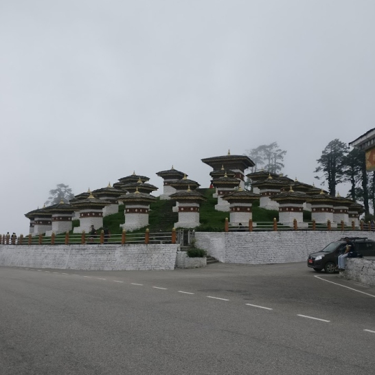 The 108 Chortens Memorial built at Dochula Pass