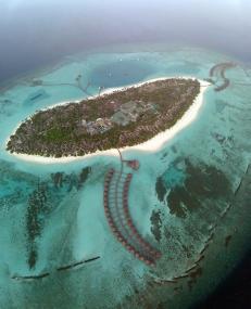 This is the spectacular Sun Siyam Resort on Iru Fushi island that's part of Noonu Atoll.